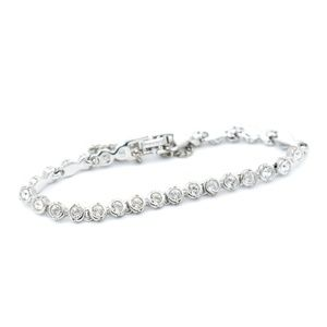 Swarovski Rhodium Plated Crystal Tennis Bracelet